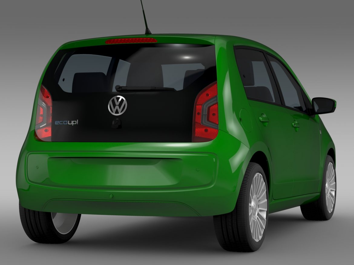vw eco up 5 door 2013 3d model 3ds max fbx c4d lwo ma mb hrc xsi obj 209117
