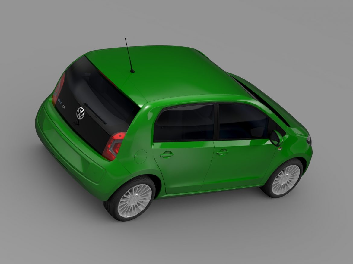 vw eco up 5 door 2013 3d model 3ds max fbx c4d lwo ma mb hrc xsi obj 209118