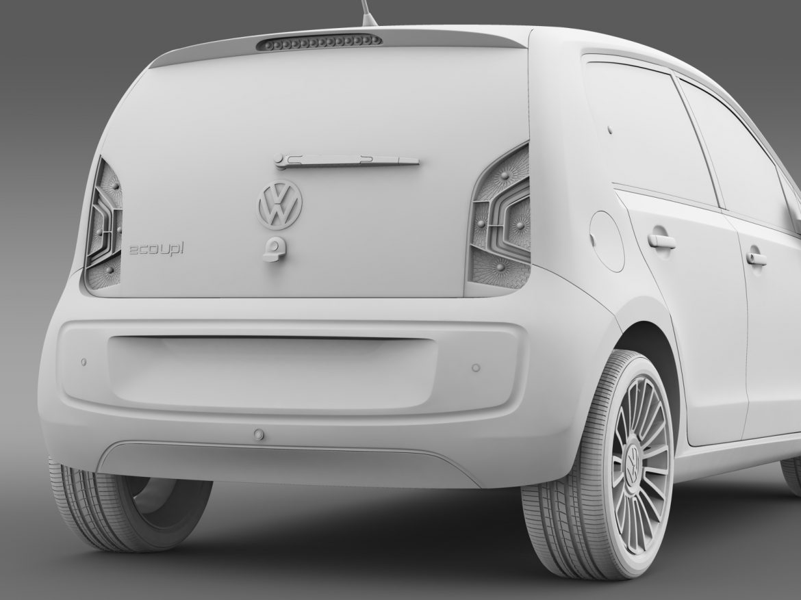 vw eco up 5 door 2013 3d model 3ds max fbx c4d lwo ma mb hrc xsi obj 209124
