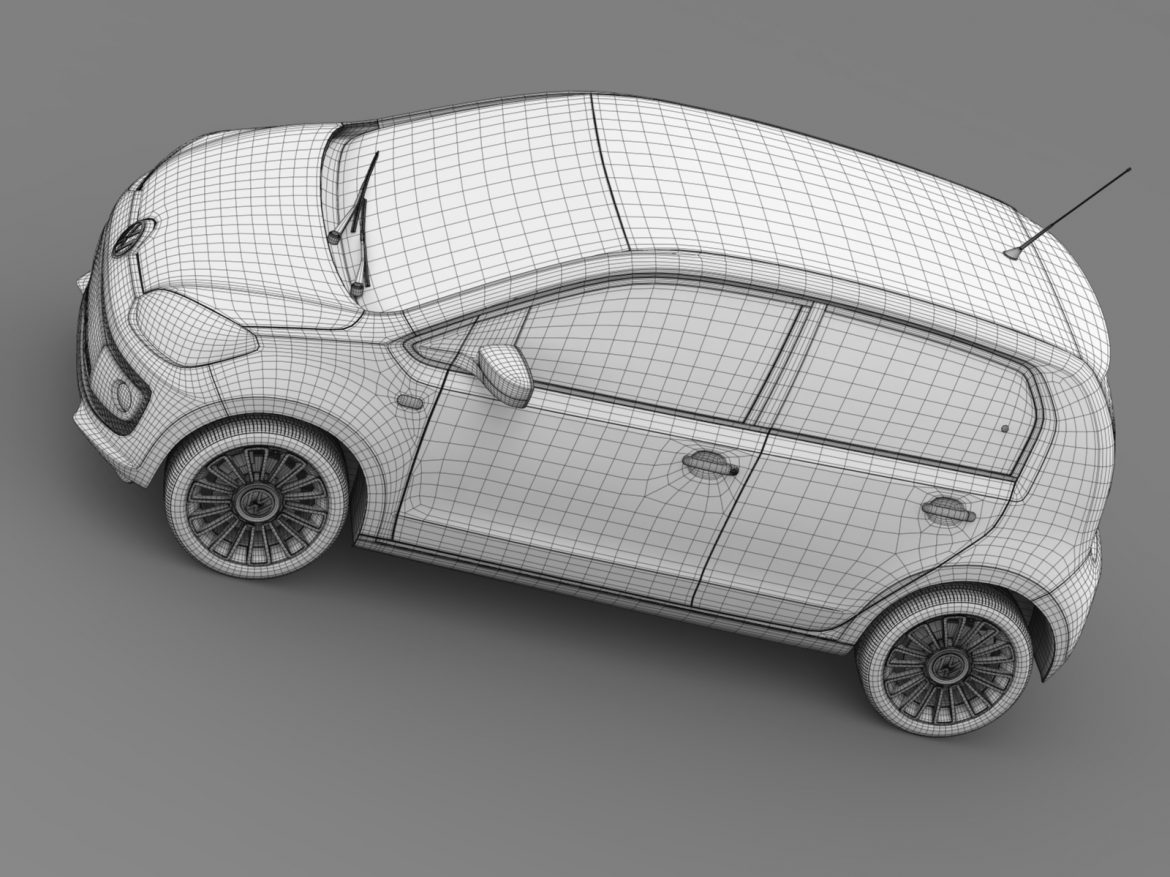 vw eco up 5 door 2013 3d model 3ds max fbx c4d lwo ma mb hrc xsi obj 209127