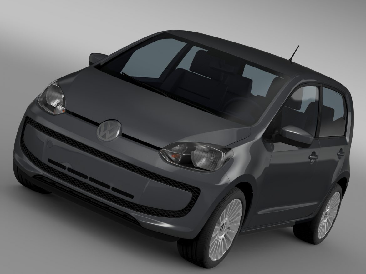 vw high up 5 door 2014 3d model 3ds max fbx c4d lwo ma mb hrc xsi obj 209129