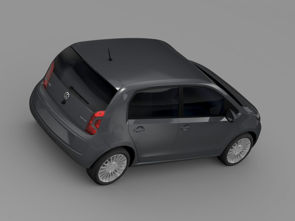 vw high up 5 door 2014 3d model 3ds max fbx c4d lwo ma mb hrc xsi obj 209138