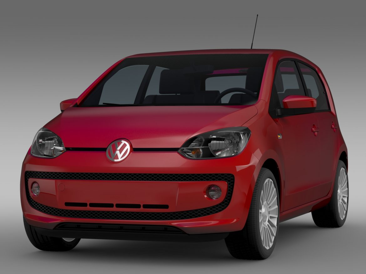 vw up 5 door 2012 3d model 3ds max fbx c4d lwo ma mb hrc xsi obj 209151
