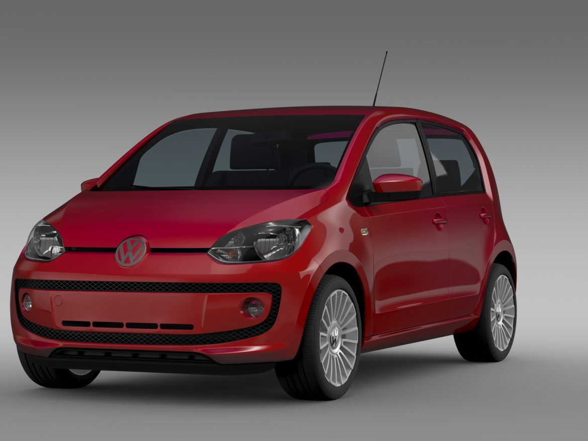 vw up 5 door 2012 3d model 3ds max fbx c4d lwo ma mb hrc xsi obj 209152