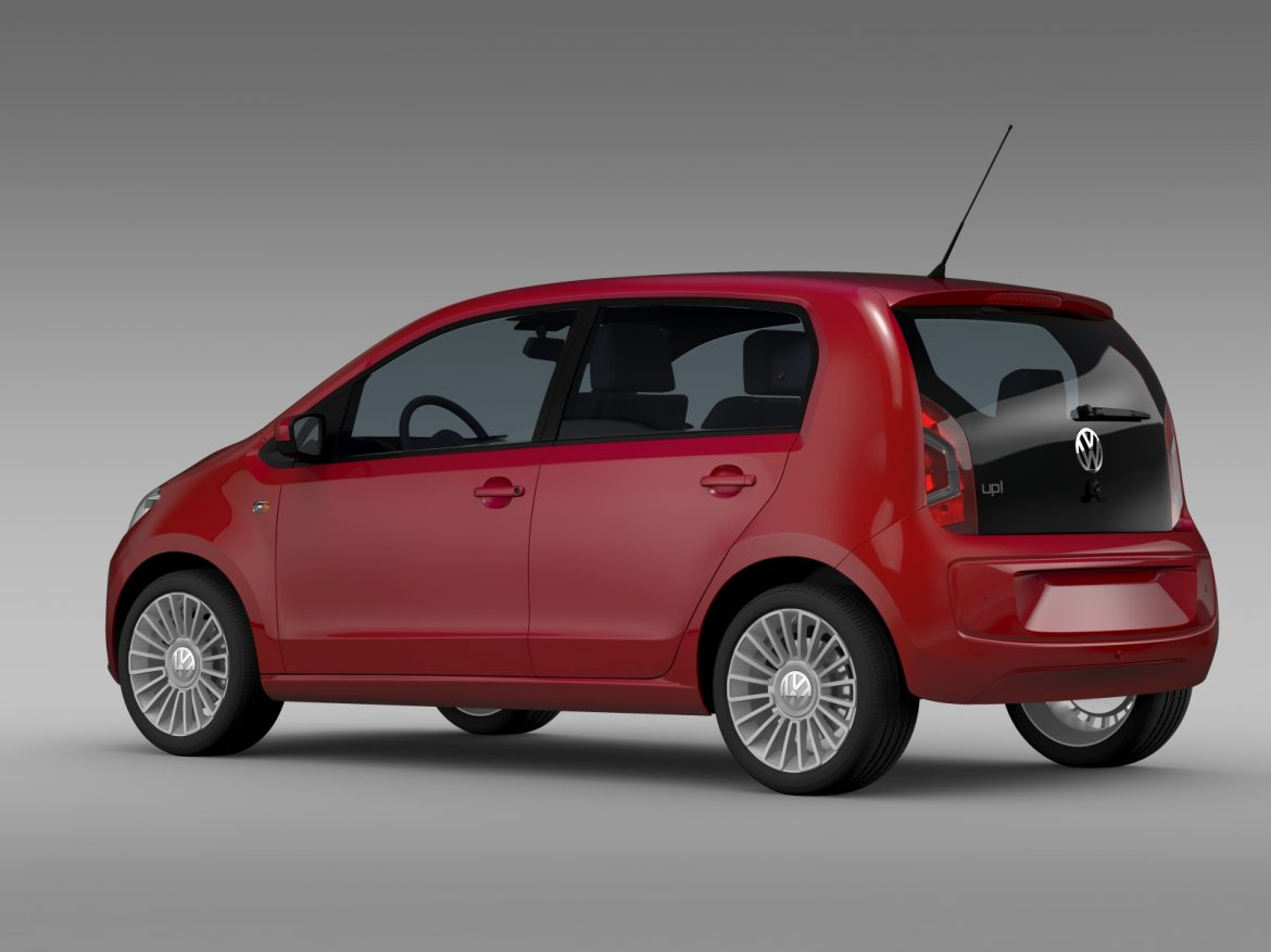 vw up 5 door 2012 3d model 3ds max fbx c4d lwo ma mb hrc xsi obj 209154