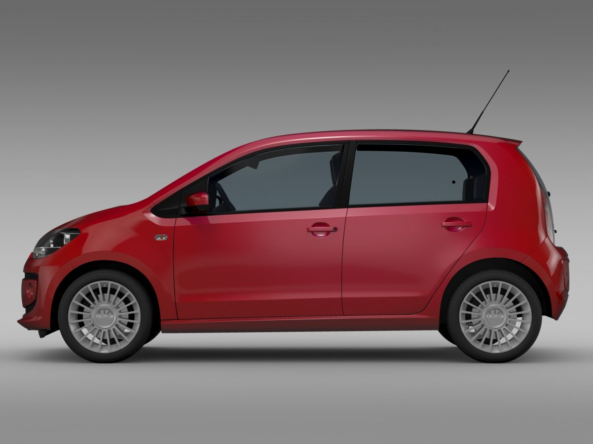 vw up 5 door 2012 3d model 3ds max fbx c4d lwo ma mb hrc xsi obj 209155