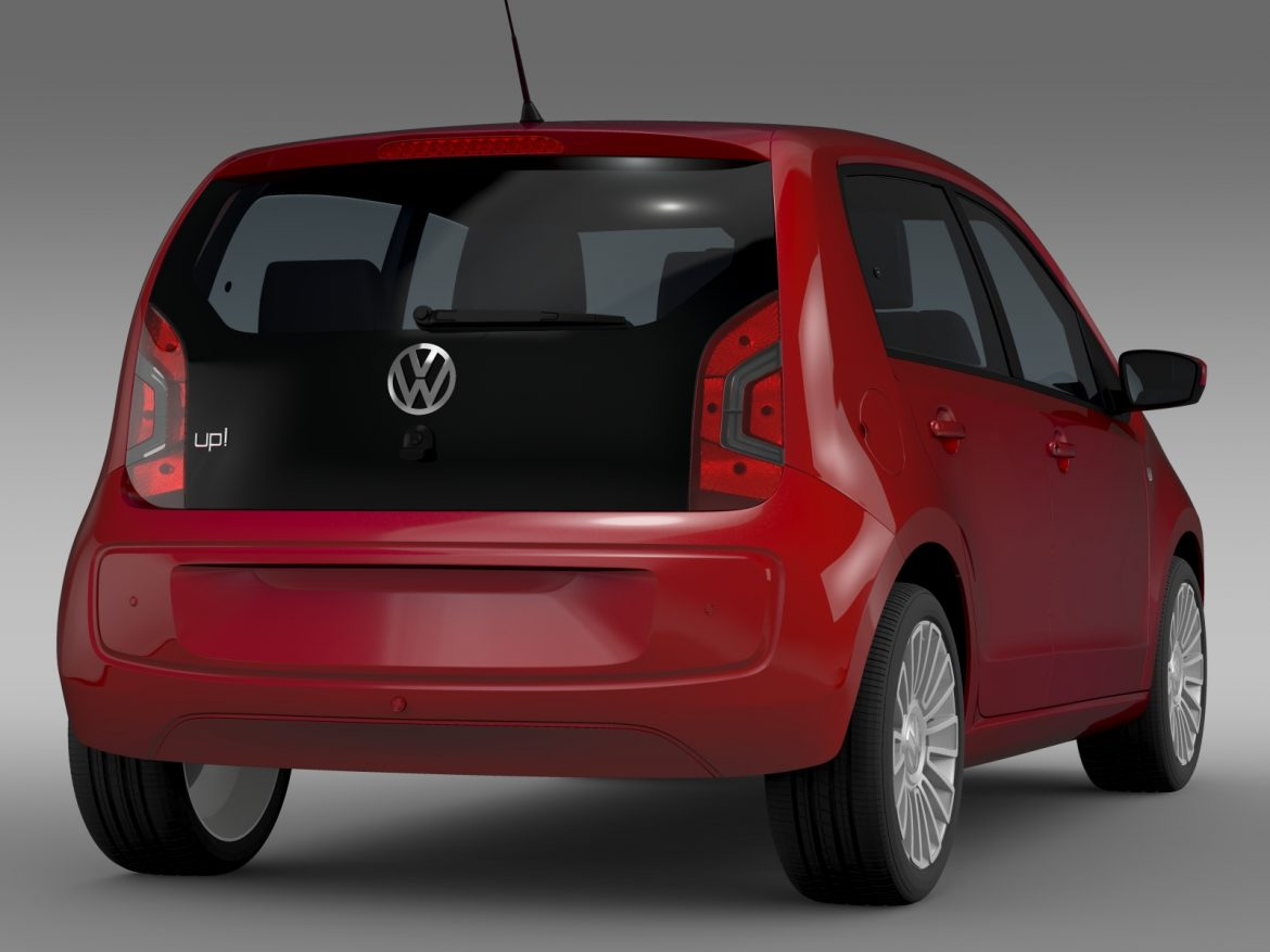 vw up 5 door 2012 3d model 3ds max fbx c4d lwo ma mb hrc xsi obj 209157