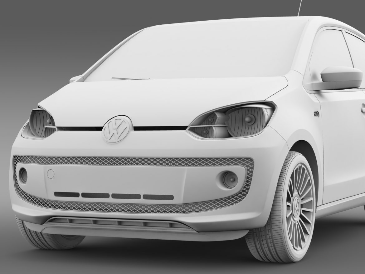 vw up 5 door 2012 3d model 3ds max fbx c4d lwo ma mb hrc xsi obj 209163