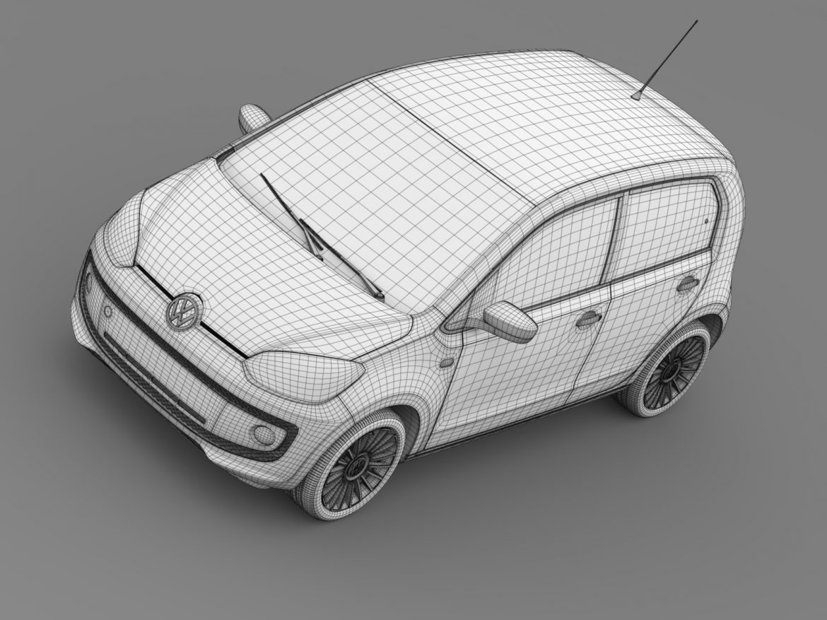vw up 5 door 2012 3d model 3ds max fbx c4d lwo ma mb hrc xsi obj 209165
