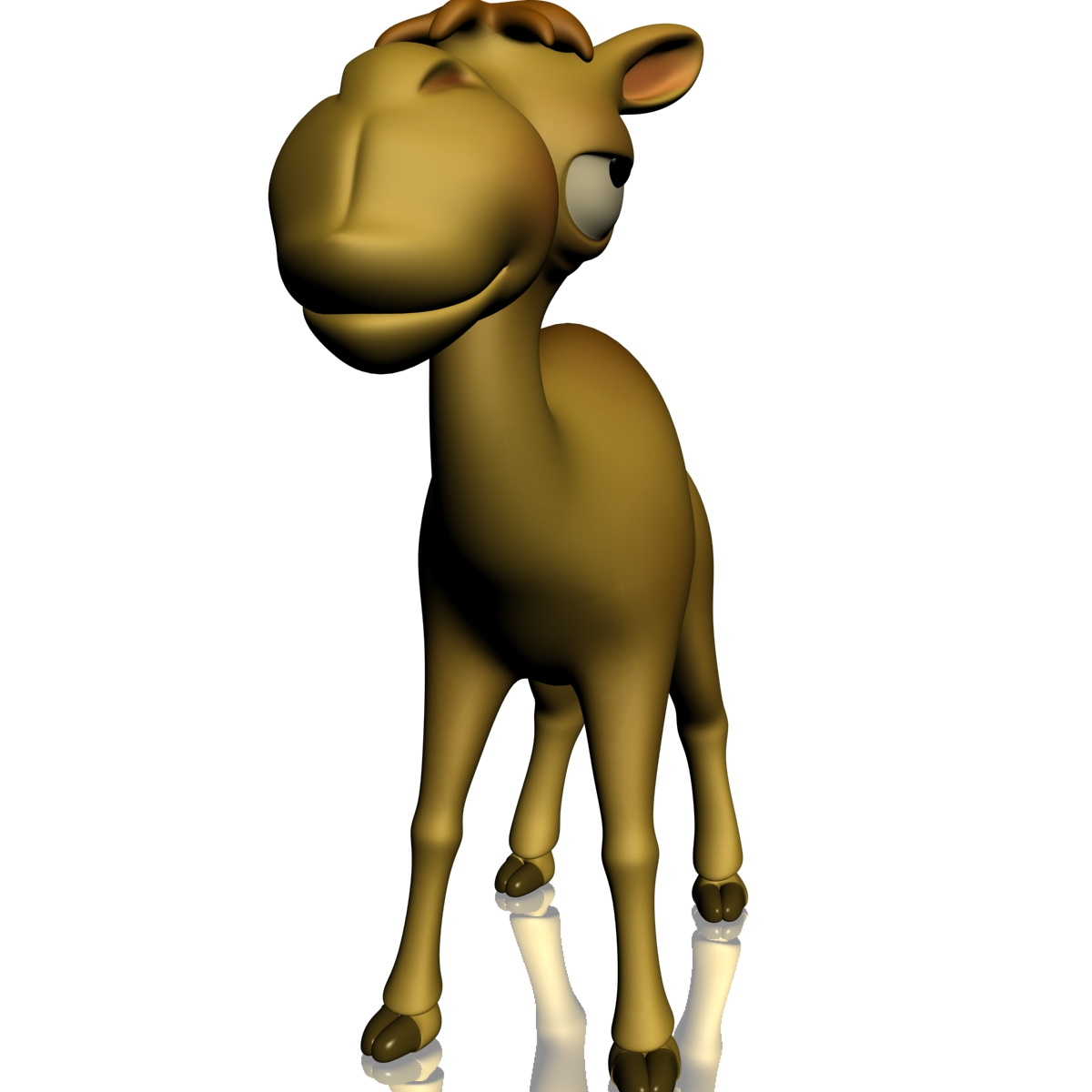 cartoon camel rigged 3d model 3ds max fbx  obj 209171