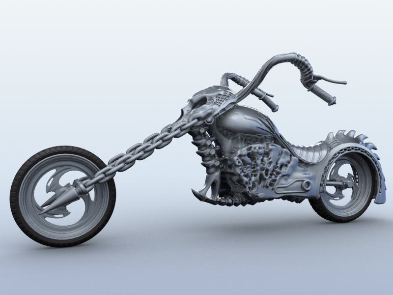 sci fi motorcycle 3d model 3ds max fbx obj 209177