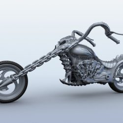 Sci Fi Motorcycle 3d model 3ds max fbx obj