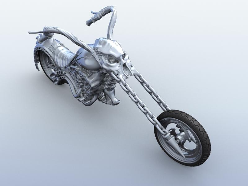 sci fi motorcycle 3d model 3ds max fbx obj 209178