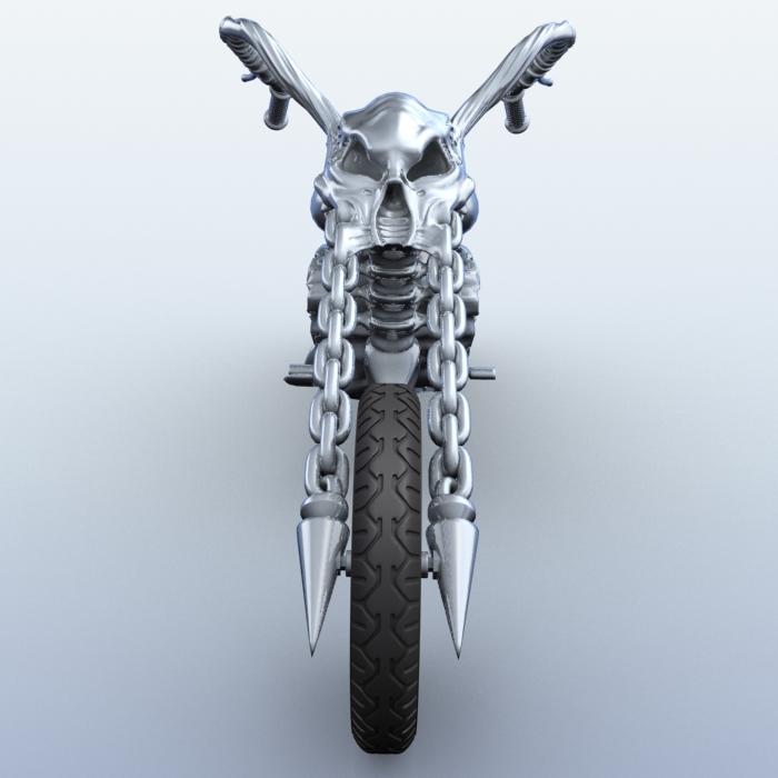 sci fi motorcycle 3d model 3ds max fbx obj 209179
