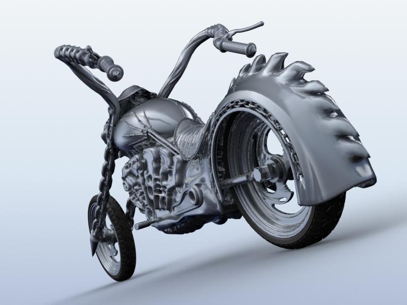 sci fi motorcycle 3d model 3ds max fbx obj 209182