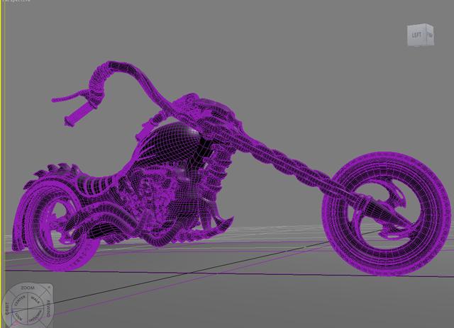sci fi motorcycle 3d model 3ds max fbx obj 209184