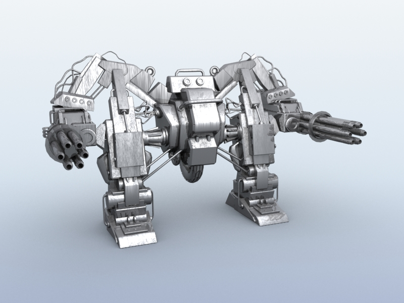 robot 10 3d model 3ds max fbx obj 209186