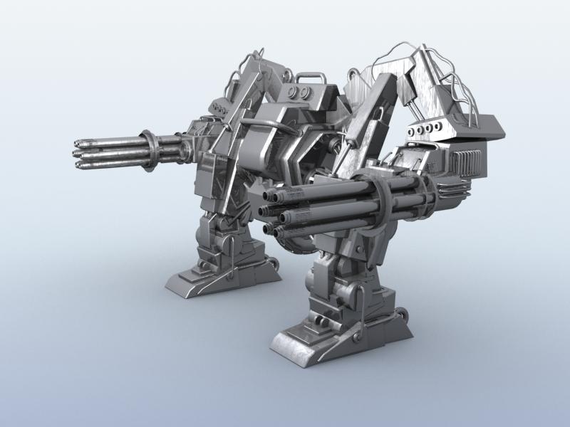 robot 10 3d model 3ds max fbx obj 209187