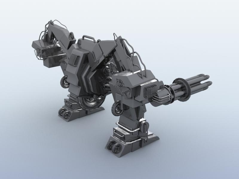 robot 10 3d model 3ds max fbx obj 209188