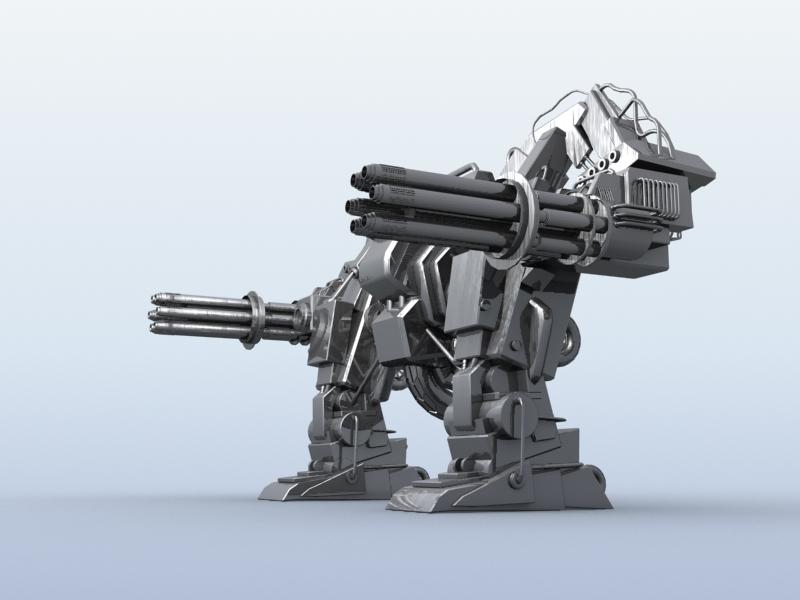 robot 10 3d model 3ds max fbx obj 209189