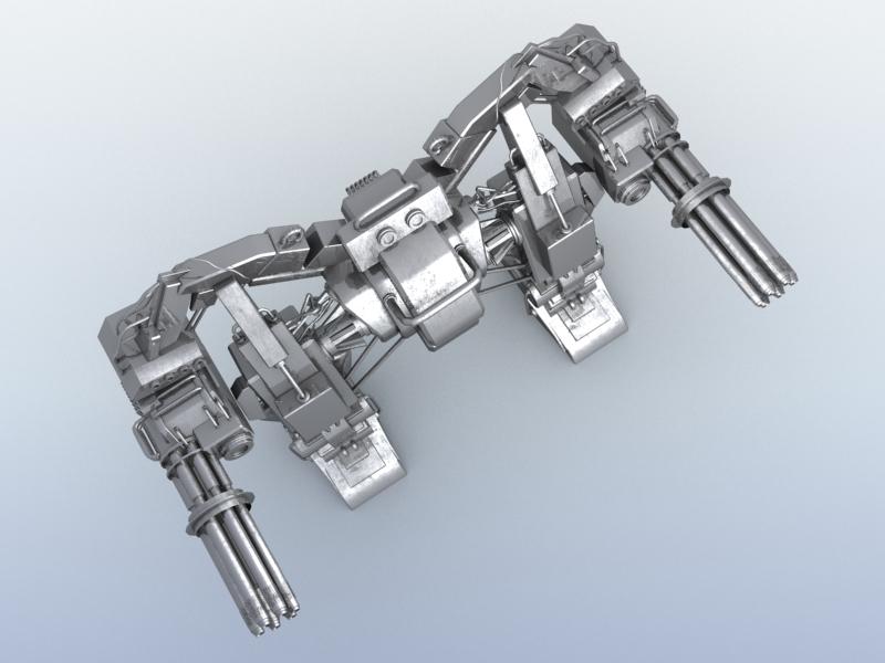 robot 10 3d model 3ds max fbx obj 209190