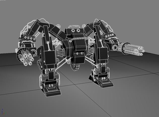 robot 10 3d model 3ds max fbx obj 209192