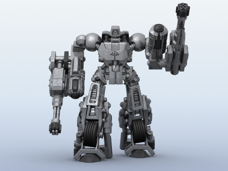 robot 11 3d model 3ds max fbx obj 209205