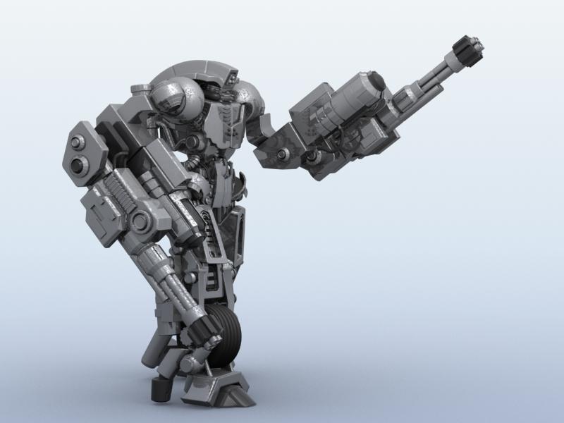 robot 11 3d model 3ds max fbx obj 209206