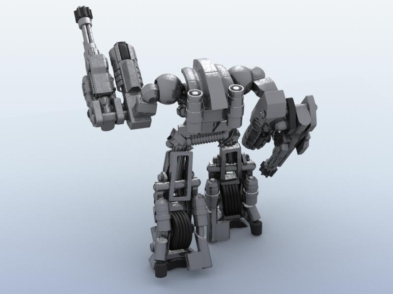 robot 11 3d model 3ds max fbx obj 209208