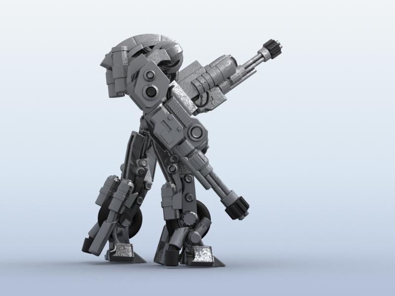 robot 11 3d model 3ds max fbx obj 209209
