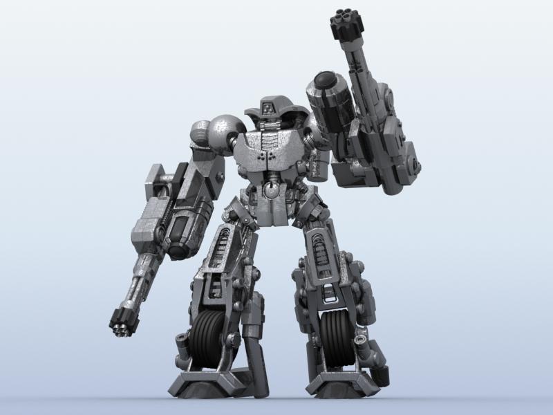 robot 11 3d model 3ds max fbx obj 209210