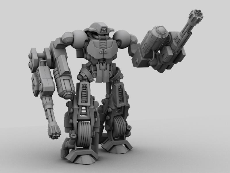 robot 11 3d model 3ds max fbx obj 209211