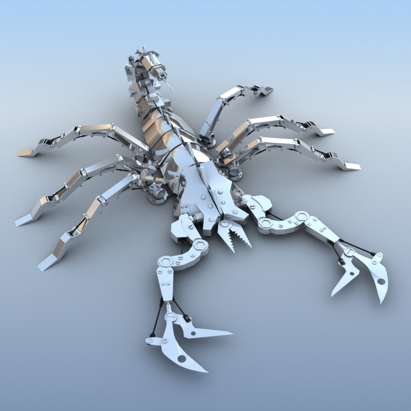mechanical scorpion 3d model 3ds max fbx obj 209214