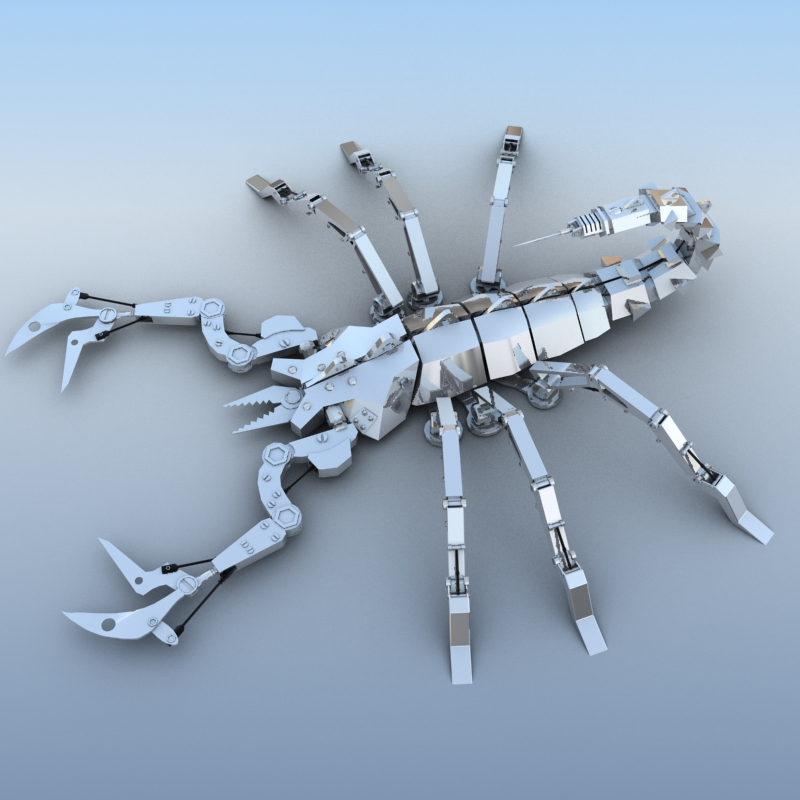 mechanical scorpion 3d model 3ds max fbx obj 209215