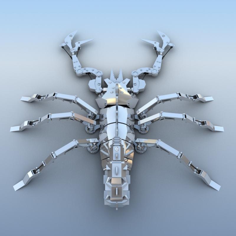 mechanical scorpion 3d model 3ds max fbx obj 209217