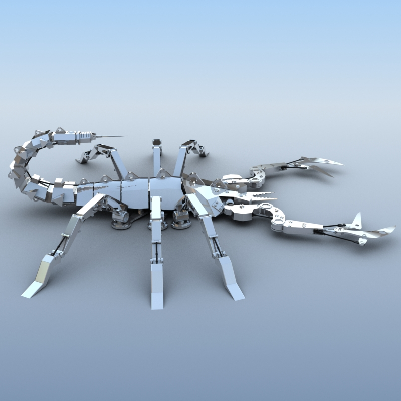 mechanical scorpion 3d model 3ds max fbx obj 209218