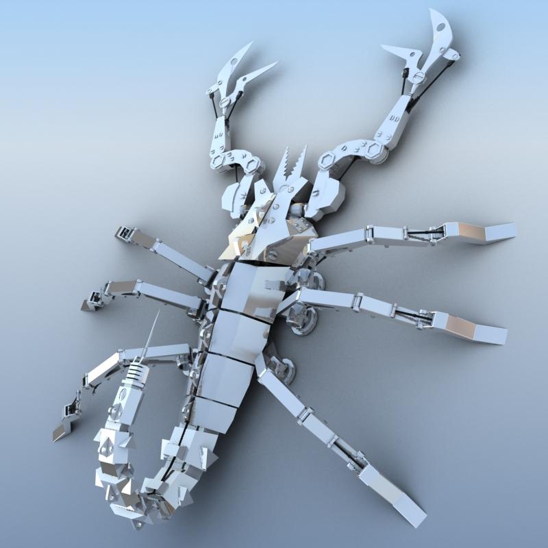 mechanical scorpion 3d model 3ds max fbx obj 209219
