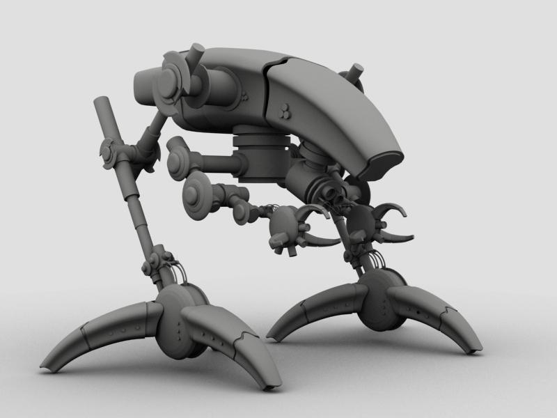 robot 12 3d model 3ds max fbx obj 209228
