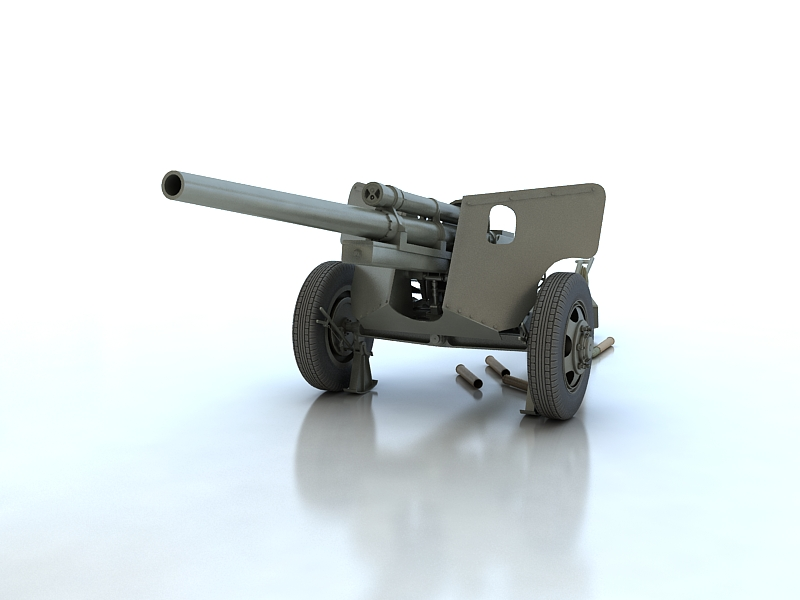 3-inch gun m5 3d model max 209232