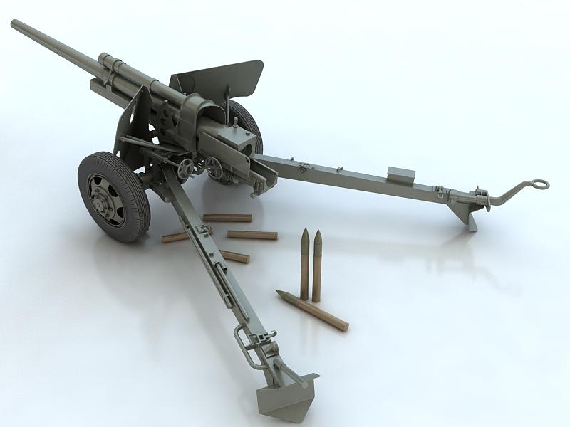 3-inch gun m5 3d model max 209234