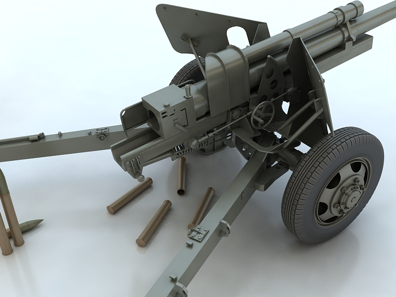 3-inch gun m5 3d model max 209236
