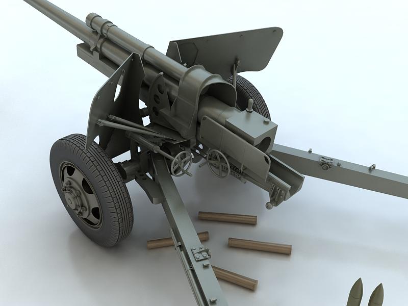 3-inch gun m5 3d model max 209237