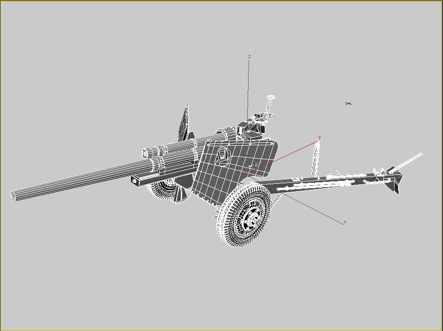 3-inch gun m5 3d model max 209239