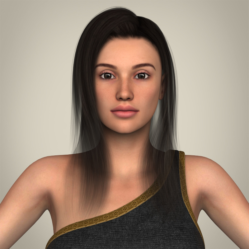 Realistic Young Gorgeous Woman 3d model 3ds max fbx c4d lwo lws lw ma mb  obj 209242