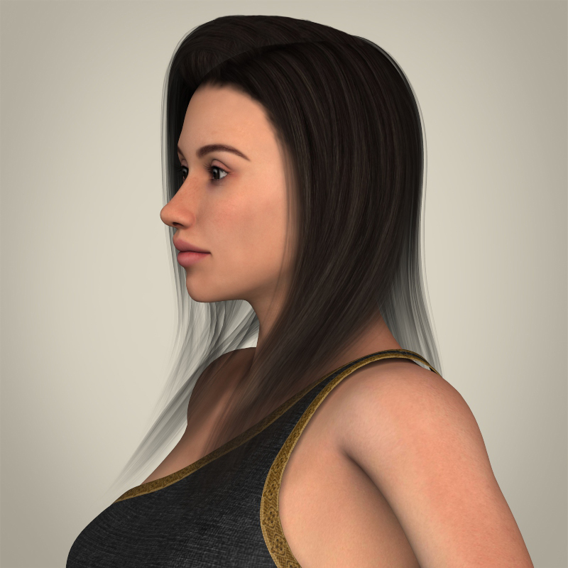 realistic young gorgeous woman 3d model 3ds max fbx c4d lwo ma mb texture obj 209243