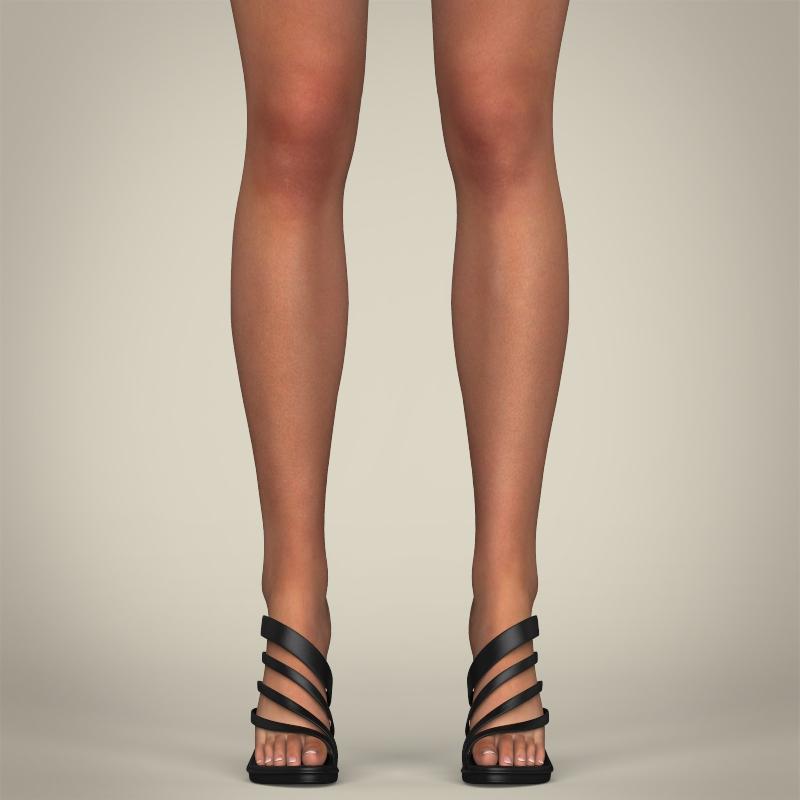 realistic young gorgeous woman 3d model 3ds max fbx c4d lwo ma mb texture obj 209246