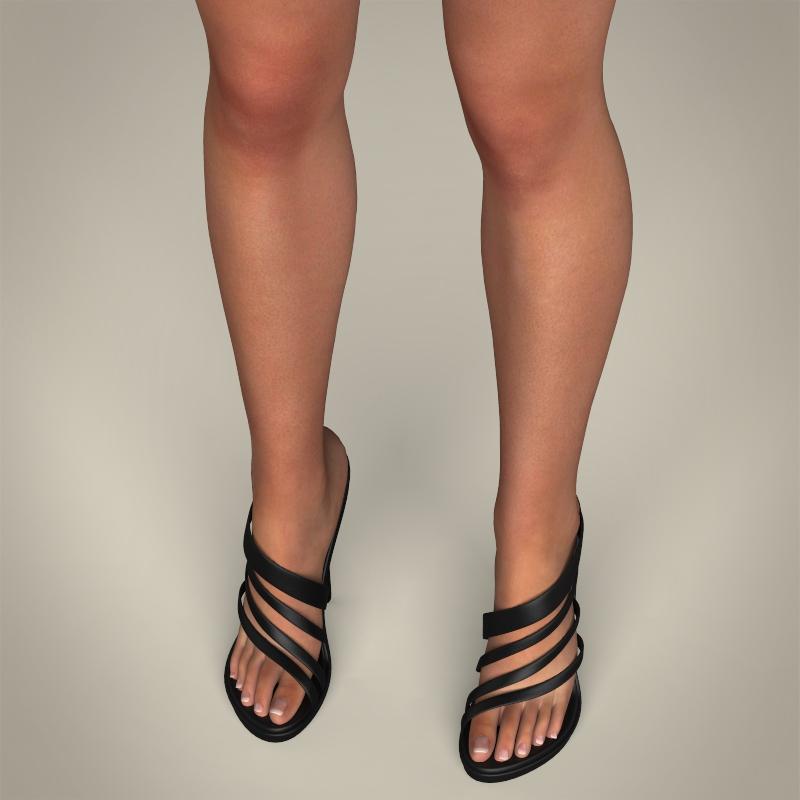 realistic young gorgeous woman 3d model 3ds max fbx c4d lwo ma mb texture obj 209247