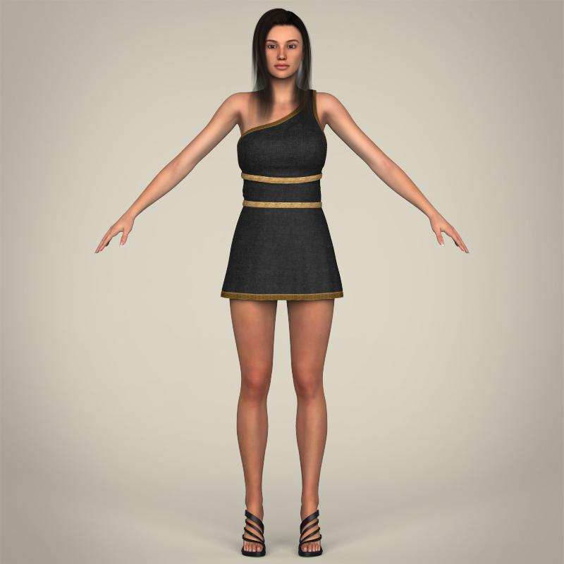 realistic young gorgeous woman 3d model 3ds max fbx c4d lwo ma mb texture obj 209249