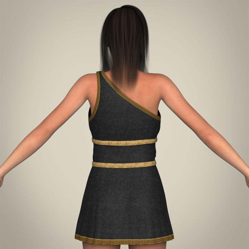realistic young gorgeous woman 3d model 3ds max fbx c4d lwo ma mb texture obj 209251