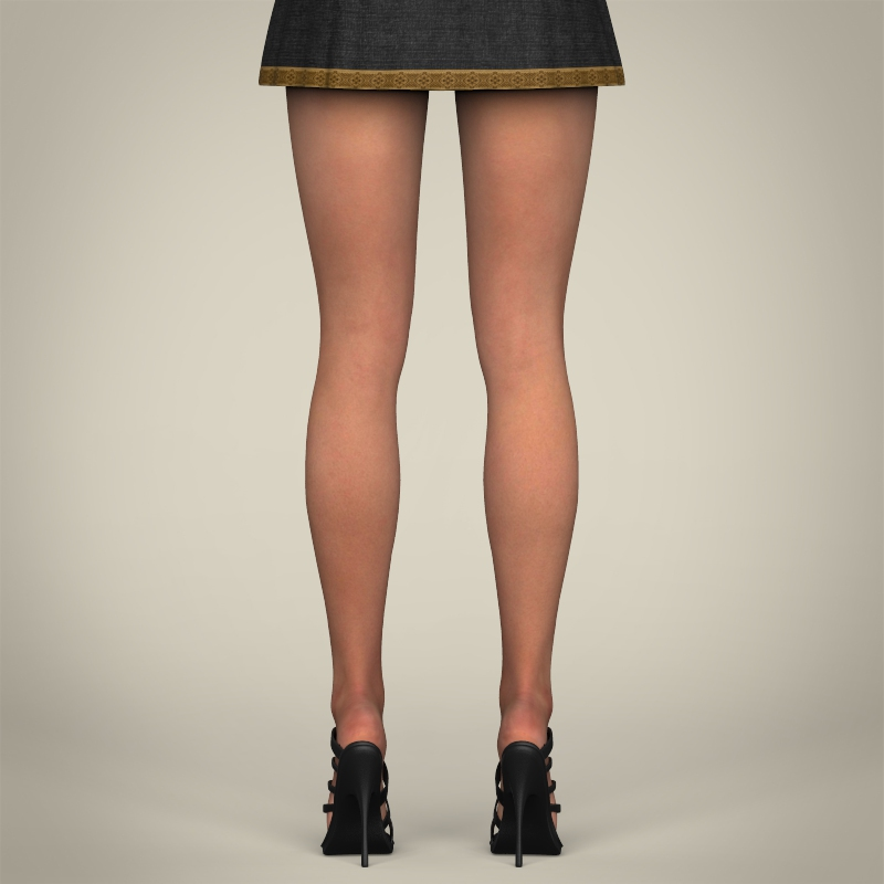 realistic young gorgeous woman 3d model 3ds max fbx c4d lwo ma mb texture obj 209252